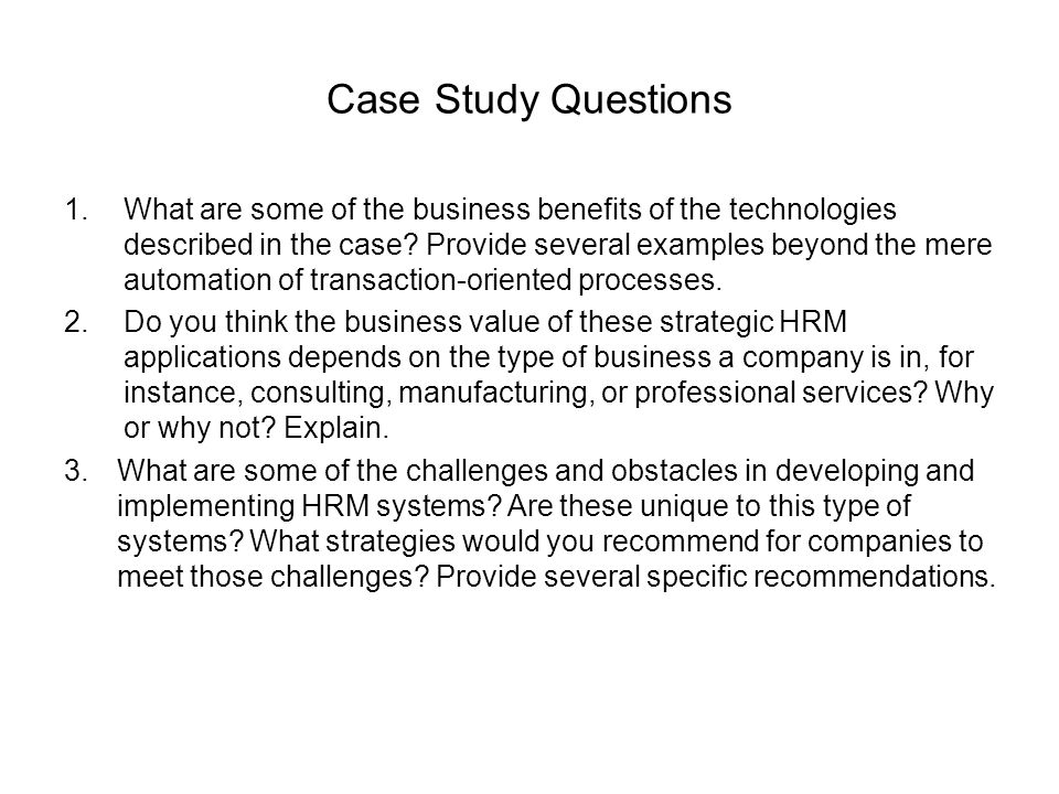 10video case study questions Frequently asked questions and sample case studies: network firms as of may 18, 2017 aicpa professional ethics division.
