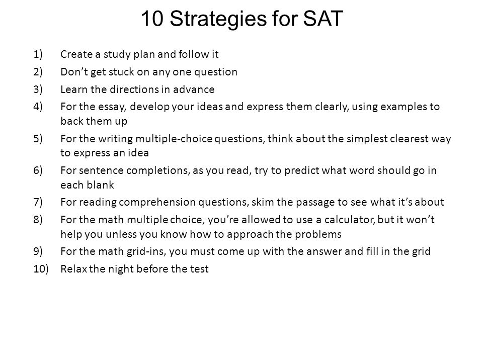The writing section on the SAT is split into grammar and the essay?