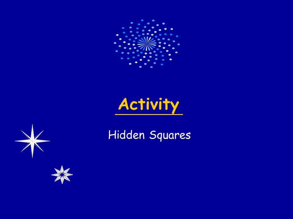 Activity Hidden Squares
