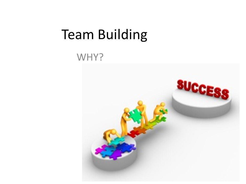 Team Building WHY?