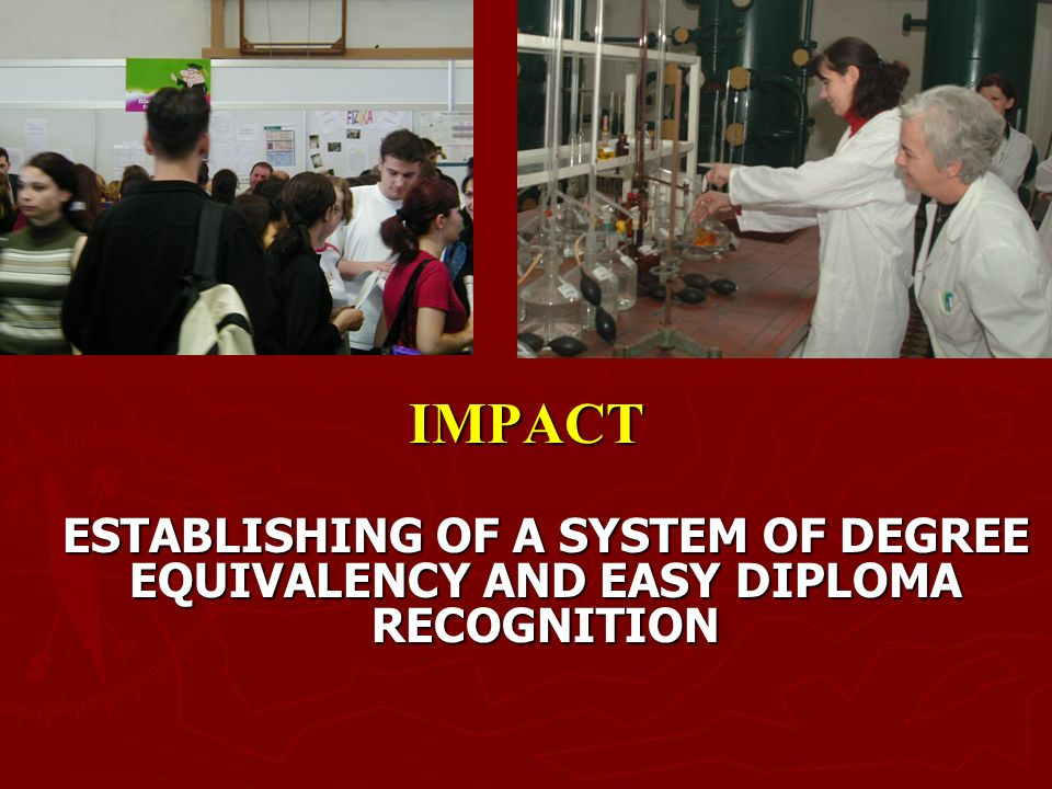 IMPACT ESTABLISHING OF A SYSTEM OF DEGREE EQUIVALENCY AND EASY DIPLOMA RECOGNITION ESTABLISHING OF A SYSTEM OF DEGREE EQUIVALENCY AND EASY DIPLOMA RECOGNITION