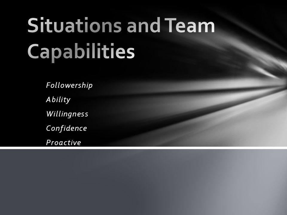 Followership Ability Willingness Confidence Proactive