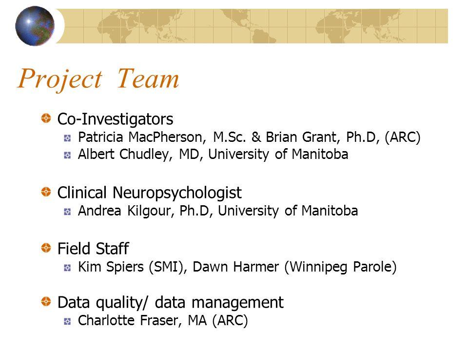 Project Team Co-Investigators Patricia MacPherson, M.Sc.