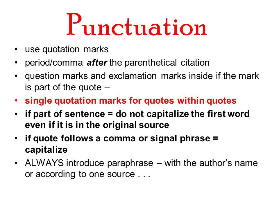 QUESTION ABOUT APA FORMAT & QUOTATIONS?! PLEASE HELP .. 10 POINTS!?