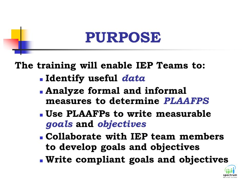 writing measurable iep goals Examples and tips of making iep annual goals measurable: you will find it more difficult to write clear and measurable goals if you have not first written a.
