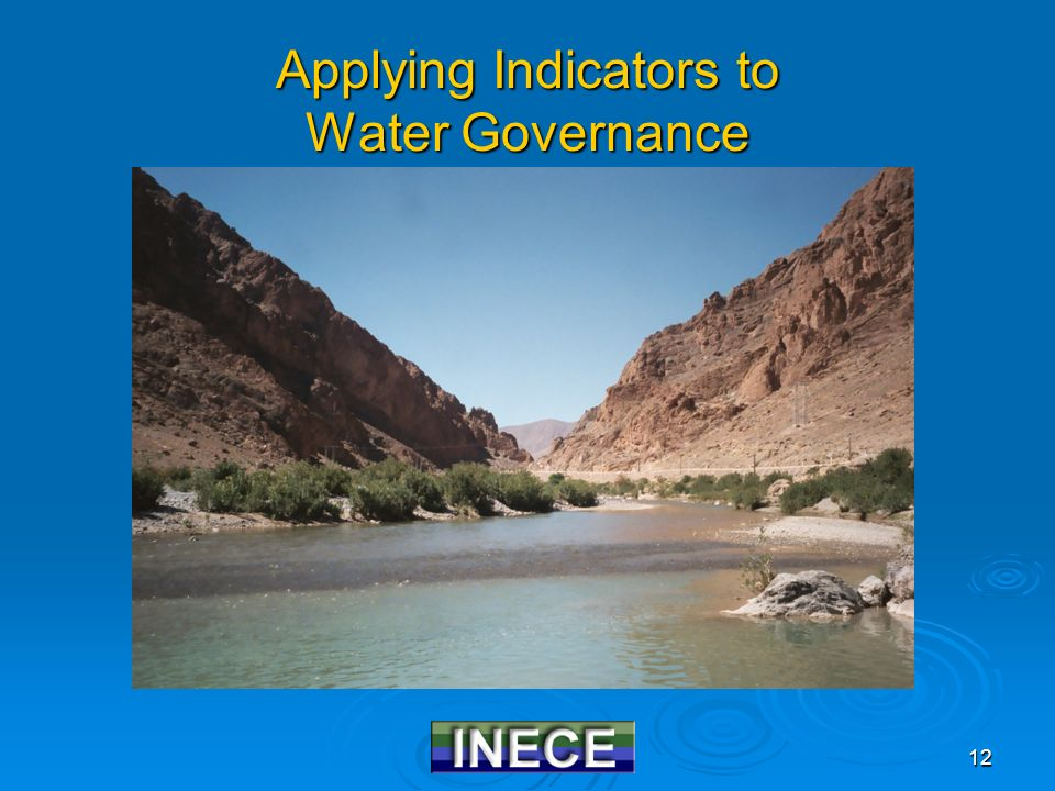 12 Applying Indicators to Water Governance