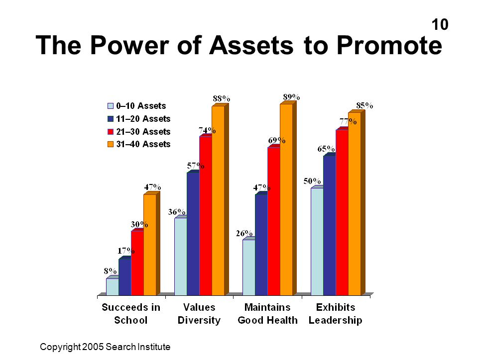 The Power of Assets to Promote Copyright 2005 Search Institute 10