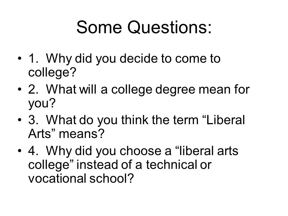 What does it mean when a college is for