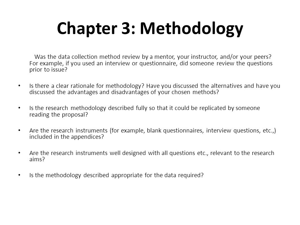 Proposed Methodology For Dissertation