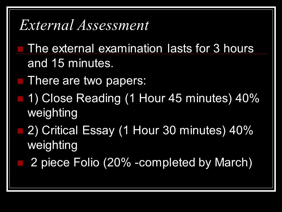 intermediate 1 english critical essay marking scheme