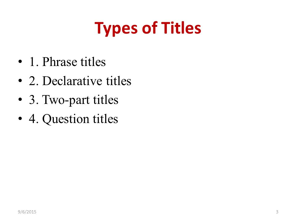 Can I use a question as a title for my essay?