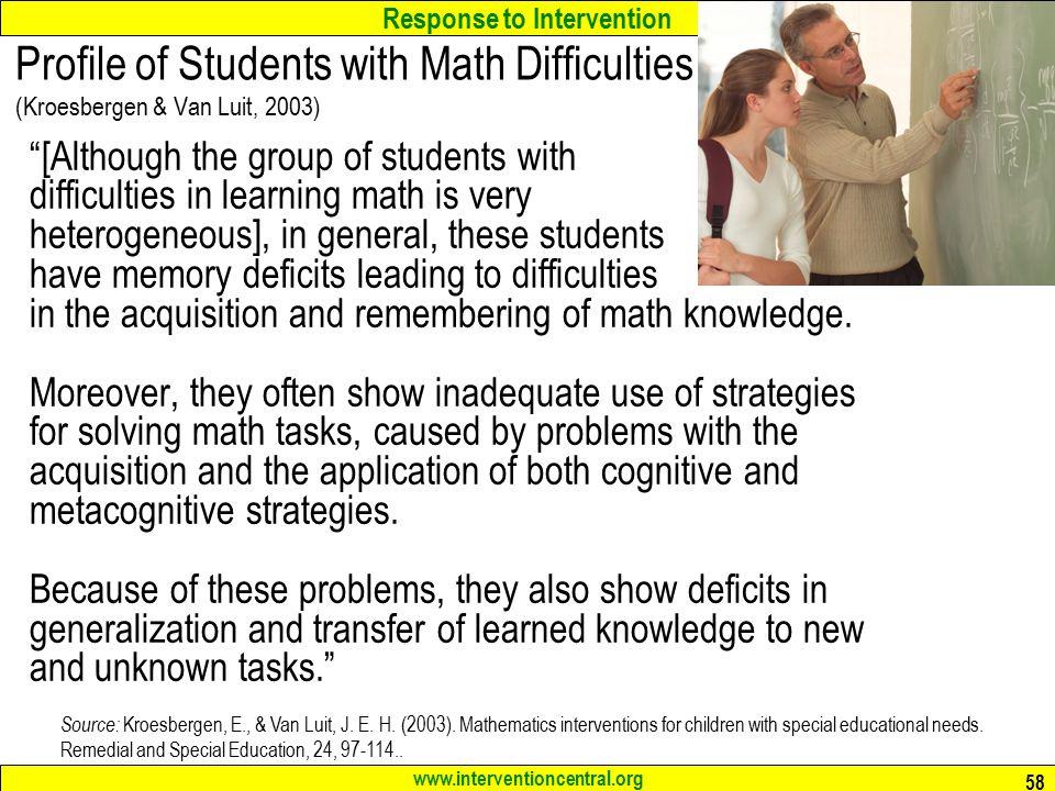 math worksheet : response to intervention rti general academic interventions in  : Intervention Central Math Worksheet Generator