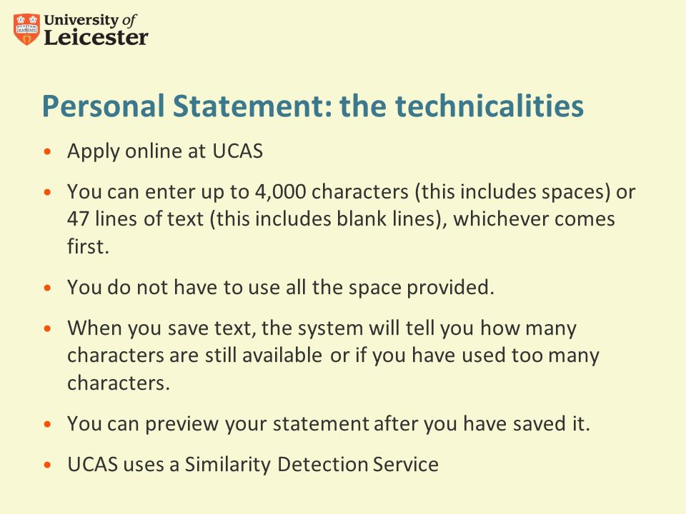ucas personal statement limit 4000 characters with or without spaces