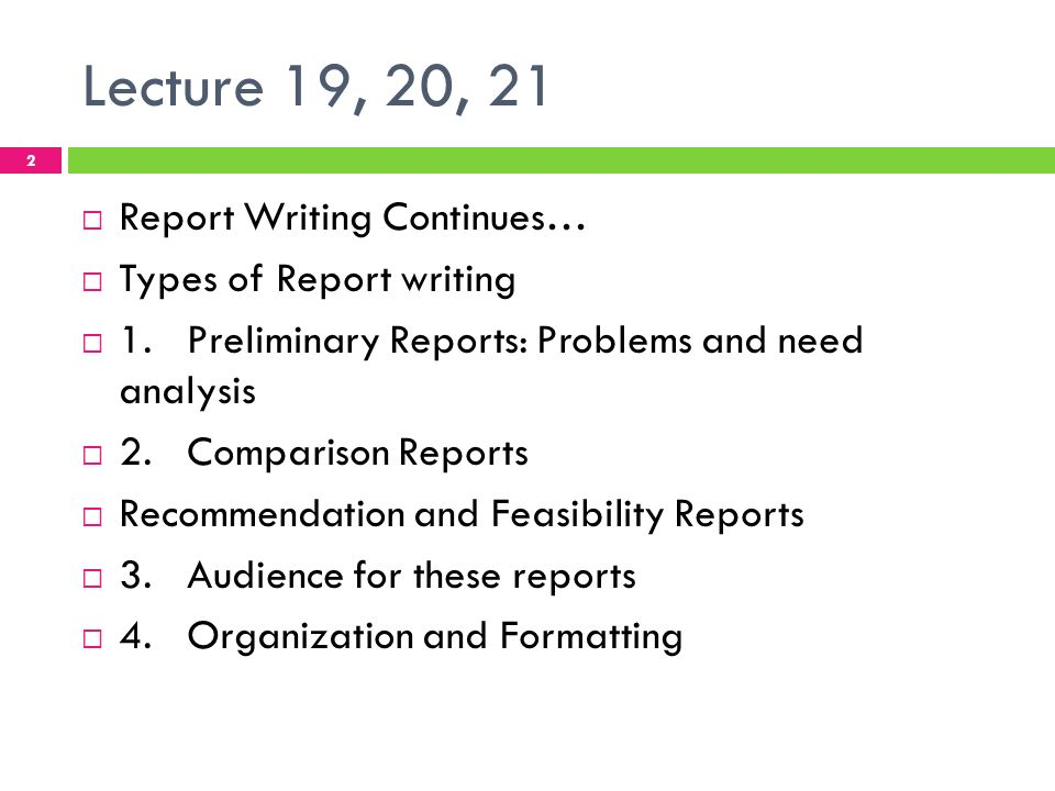 Report writing in english