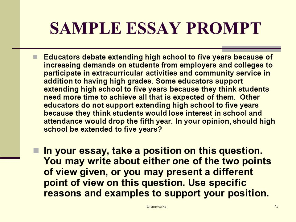 Which prompt should I categorize my essay under?