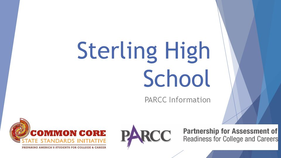 Sterling High School PARCC Information
