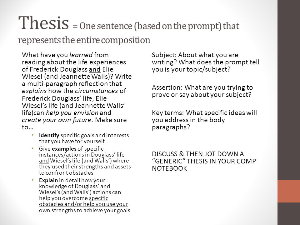 thesis statement future goals The thesis statement declares the main point or controlling idea of the entire essay the thesis briefly answers the questions, what is my opinion on subject x and what am i going to argue/illustrate in this essay 1 a good thesis states the writer's clearly defined opinion on some subject.