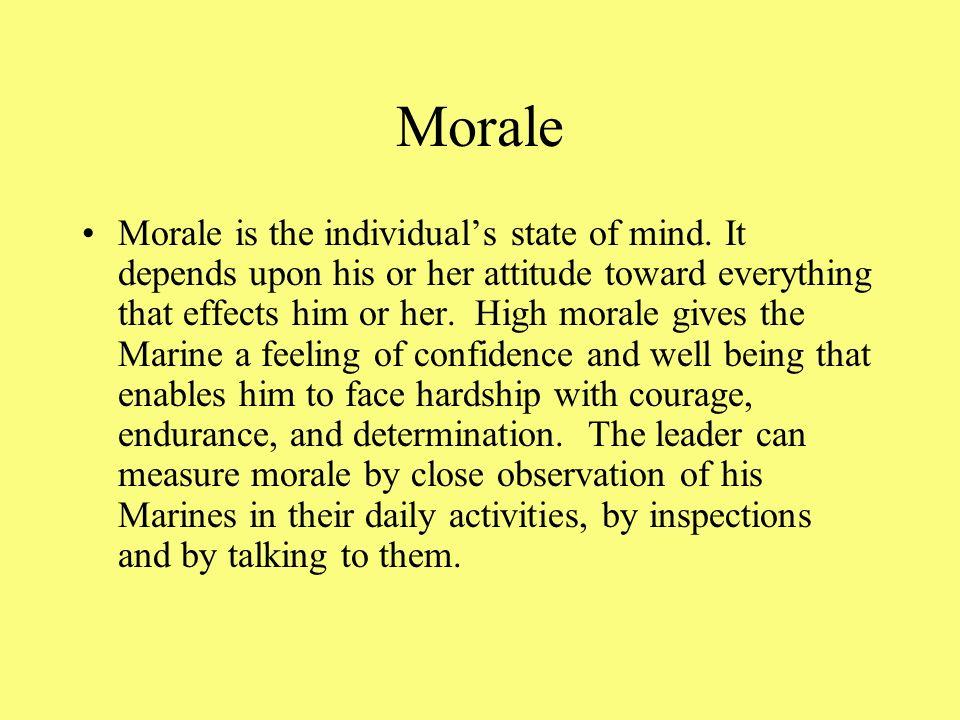The Application of Leadership Morale Motivation Discipline Esprit de Corps Proficiency