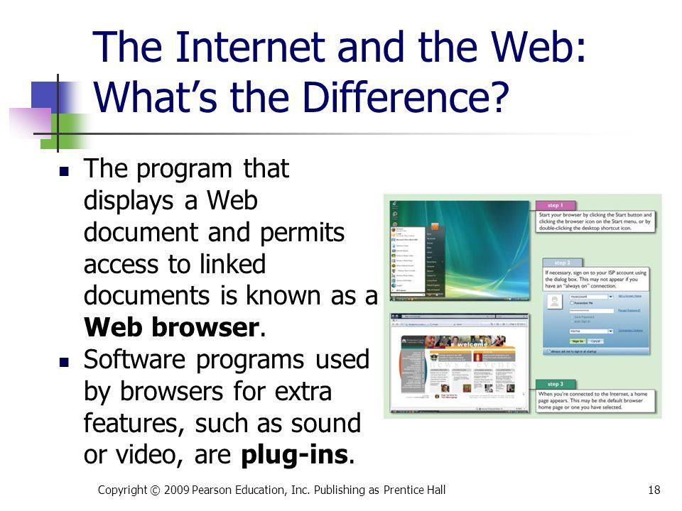 The Internet and the Web: What's the Difference.