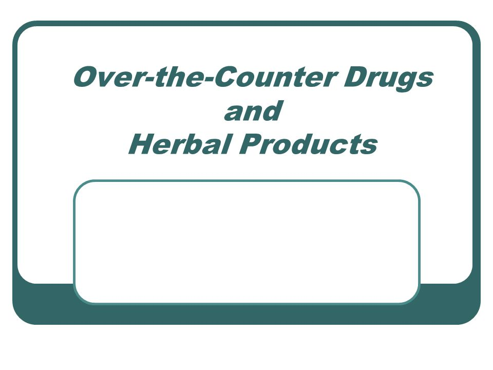What are some good websites about herbs VS. over the counter drugs?