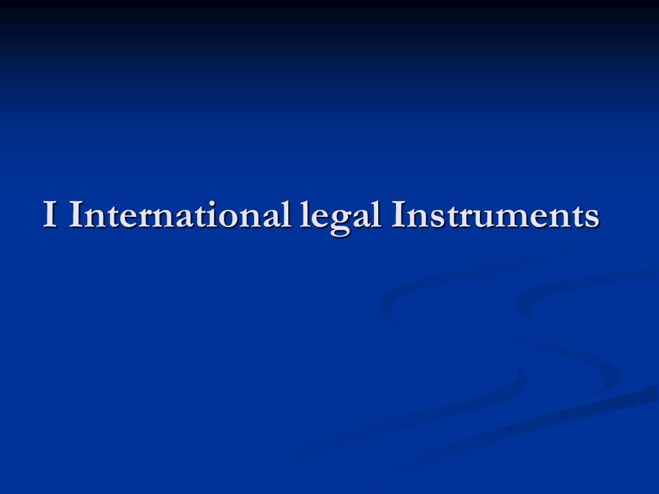 I International legal Instruments