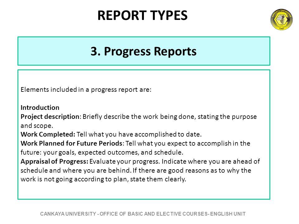 writing a progress report
