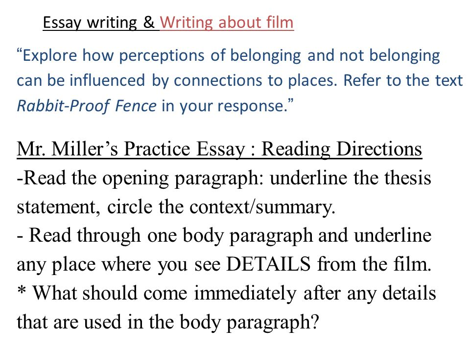 How to open a movie crique essay