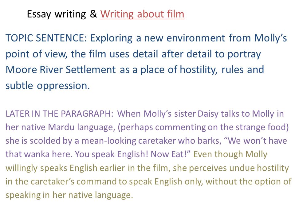 essay writing writing about film part the return brought to 7 essay