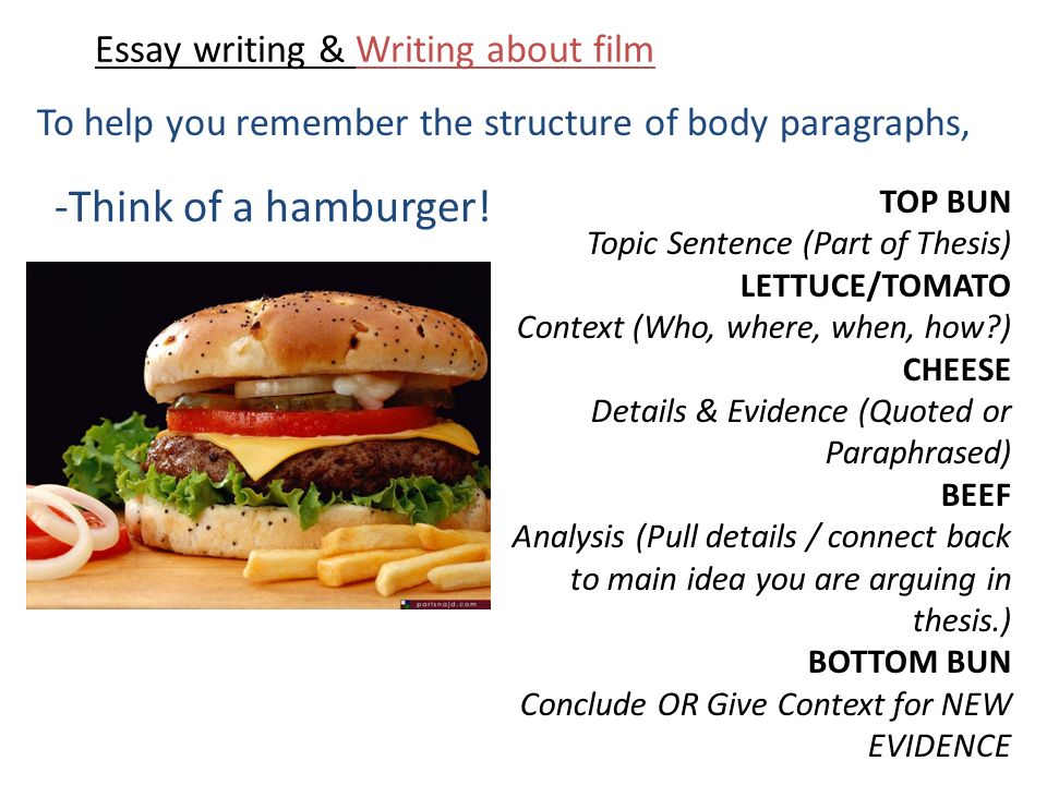 essays about films
