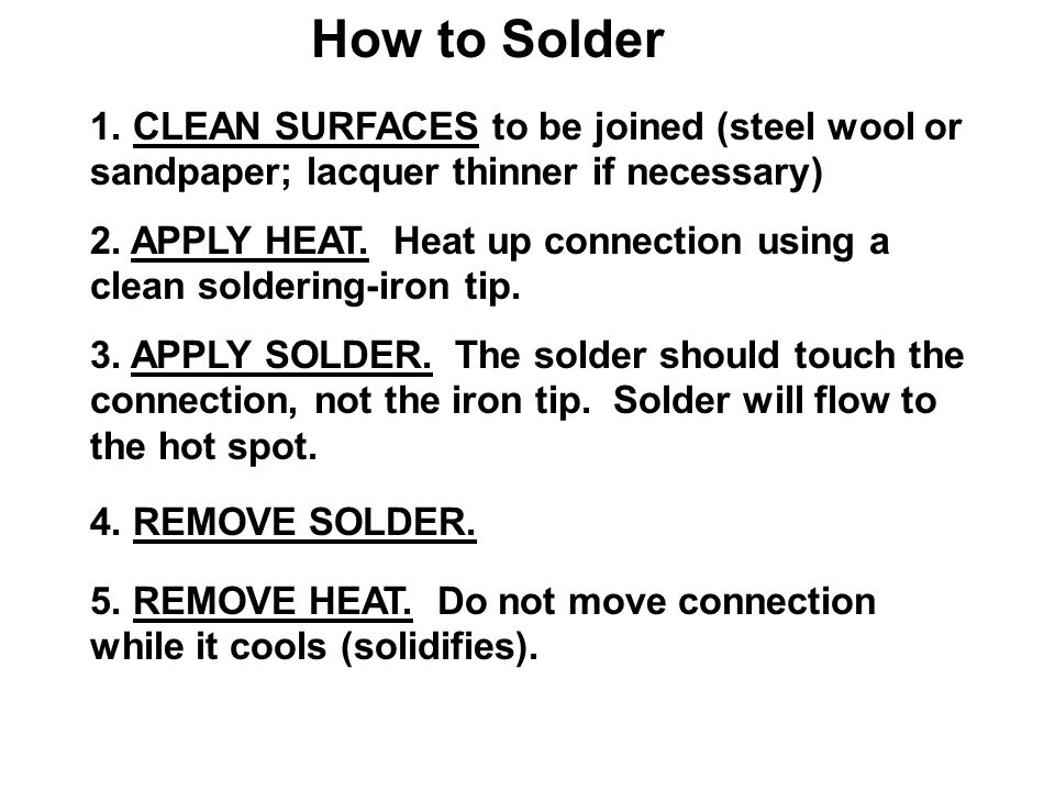 How to Solder 1.