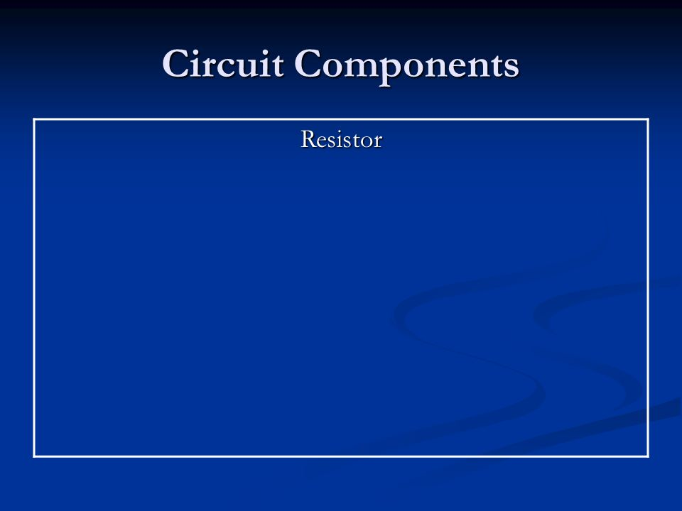 Circuit Components Resistor