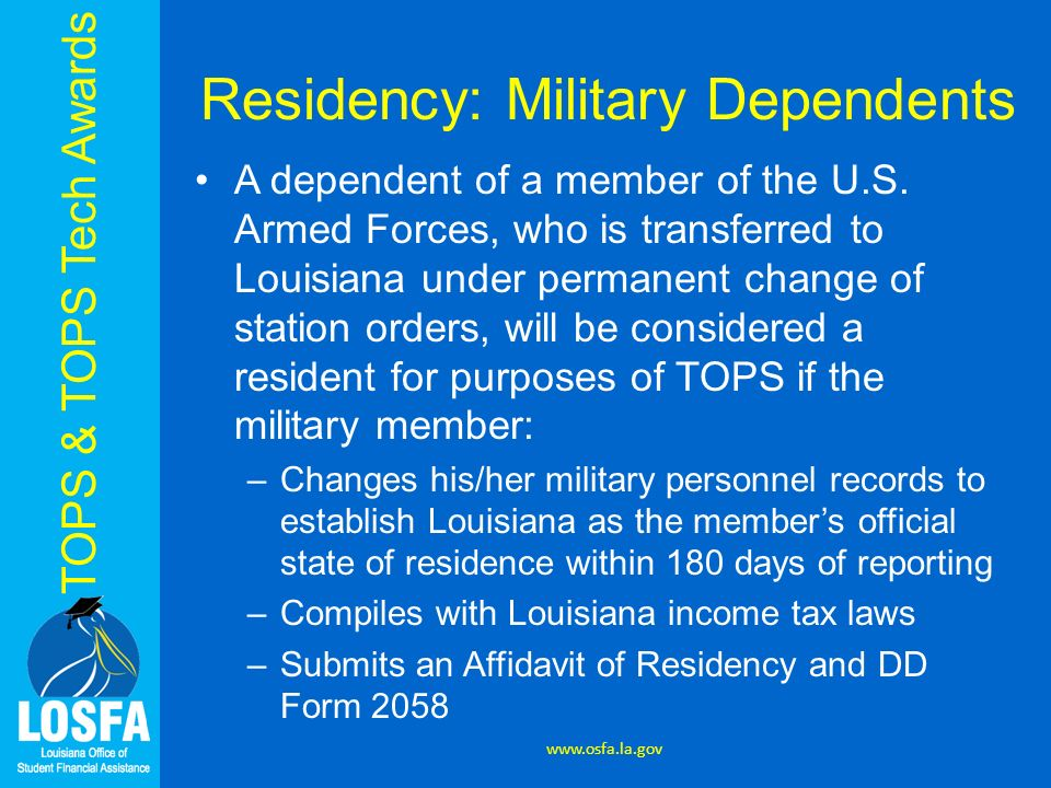 Louisiana's First Choice for College Access TOPS Opportunity ...
