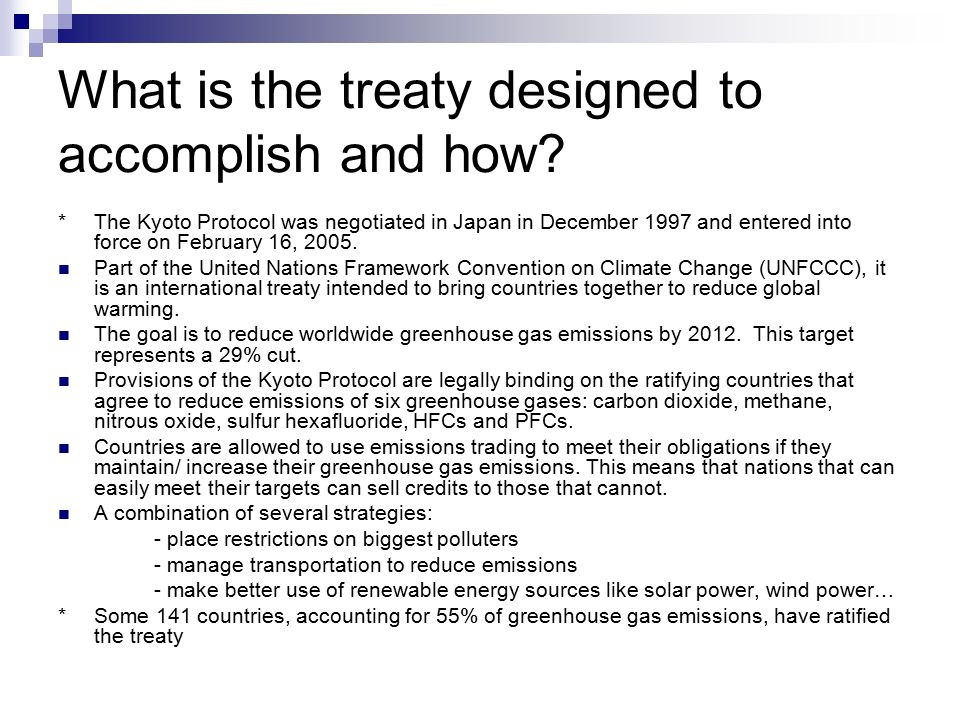 What is the treaty designed to accomplish and how.