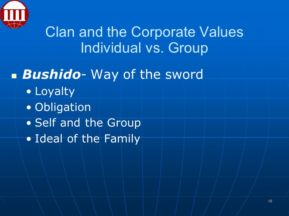 Clan and the Corporate Values Individual vs.