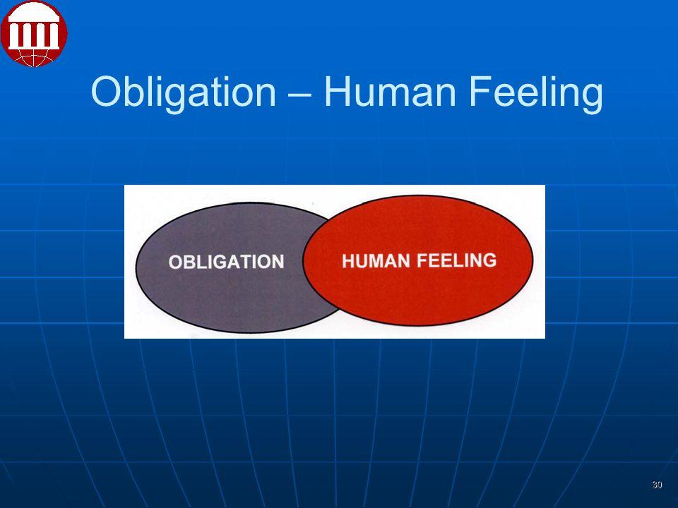 30 Obligation – Human Feeling