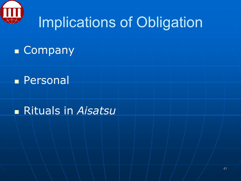 Implications of Obligation Company Personal Rituals in Aisatsu 41