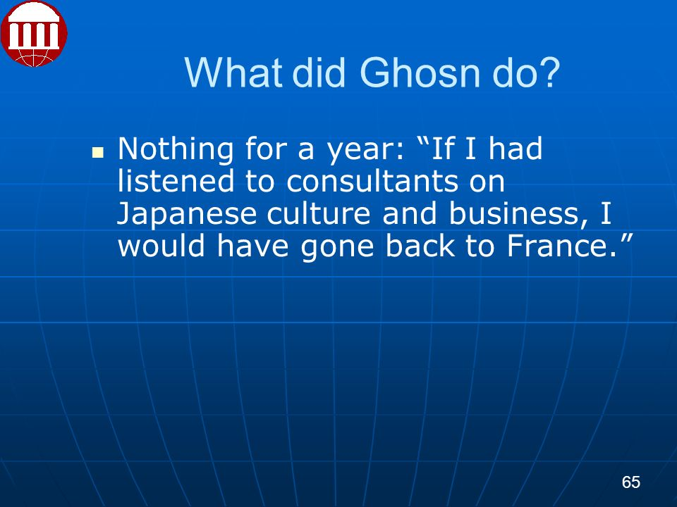 What did Ghosn do.