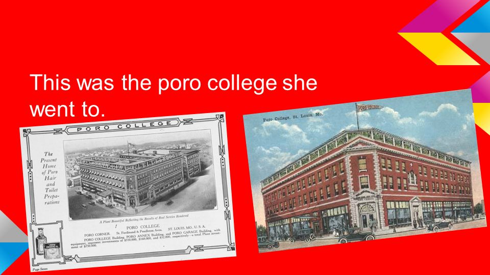 This was the poro college she went to.