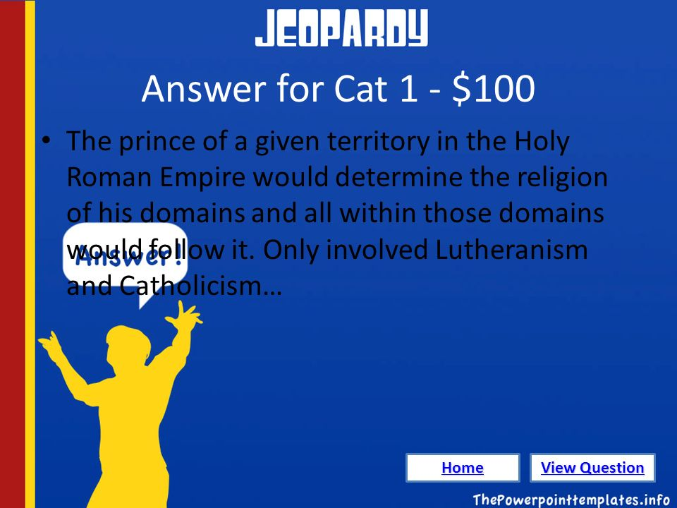 jeopardy powerpoint templates. politicsprotestant reformation, Powerpoint templates