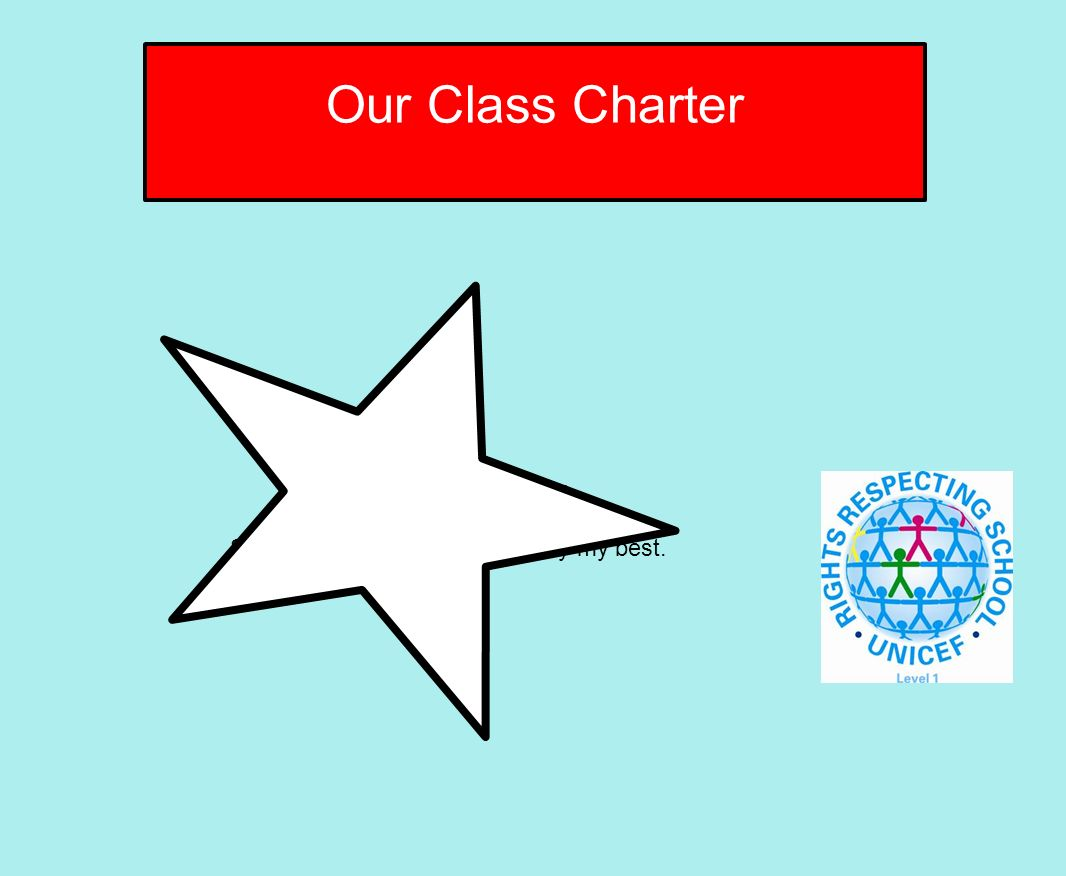 I have the right to learn So I must listen carefully and try my best. Our Class Charter