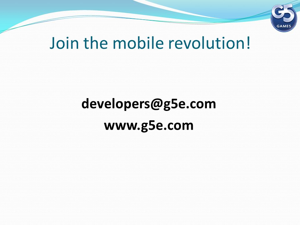 Join the mobile revolution!