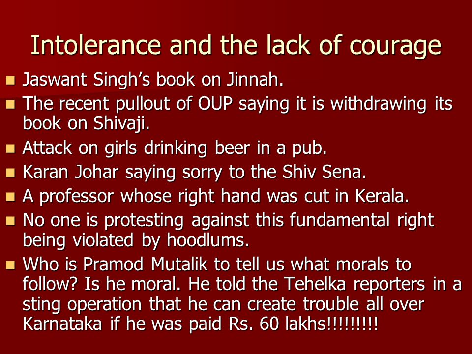 Intolerance and the lack of courage Jaswant Singh's book on Jinnah.