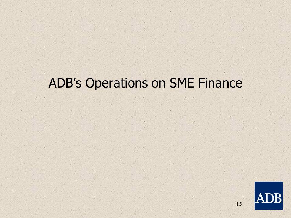 15 ADB's Operations on SME Finance