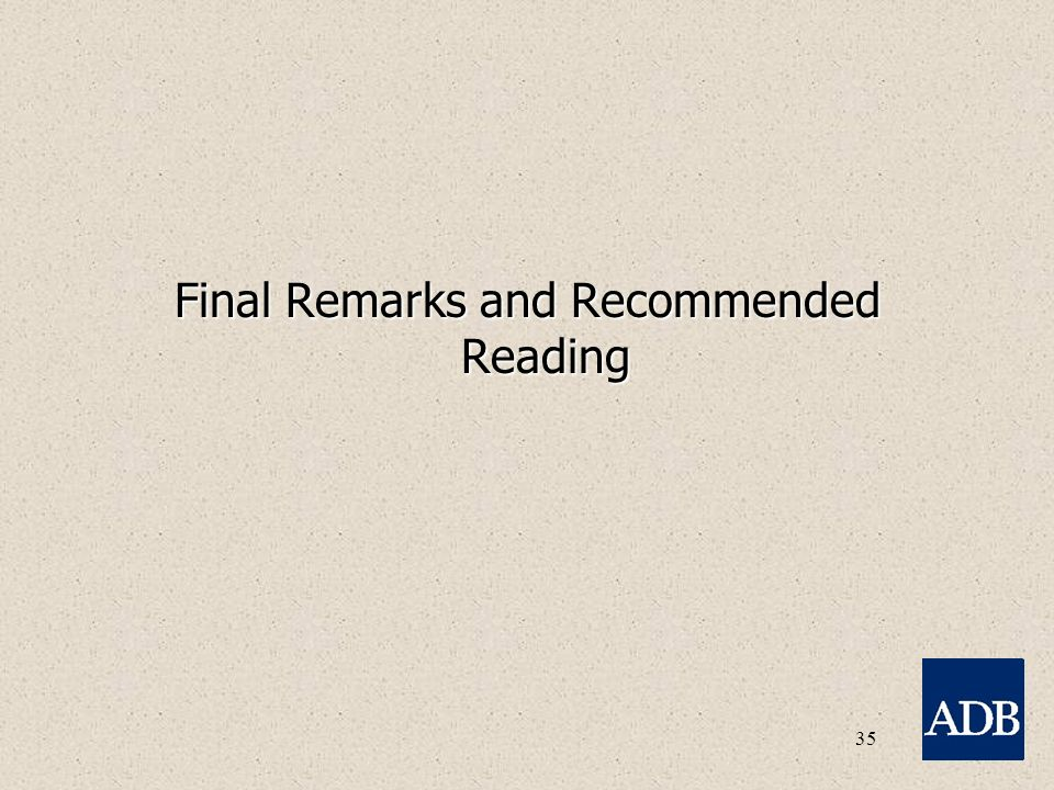 35 Final Remarks and Recommended Reading