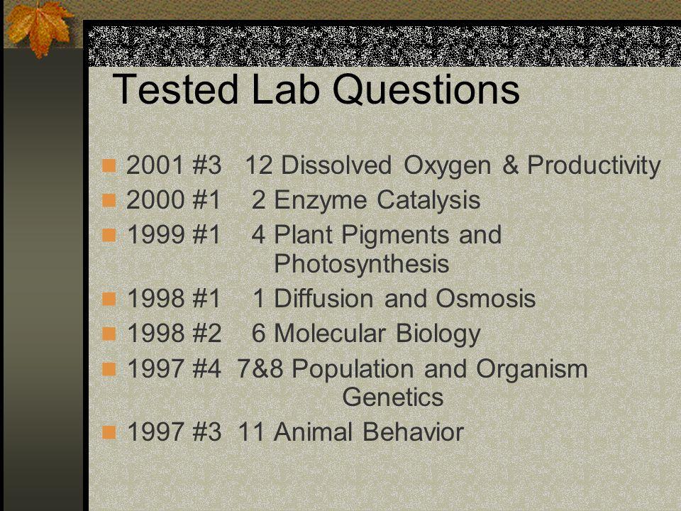 AP Biology Test SlideShare