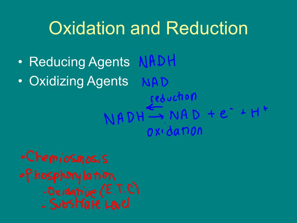 Oxidation and Reduction Reducing Agents Oxidizing Agents