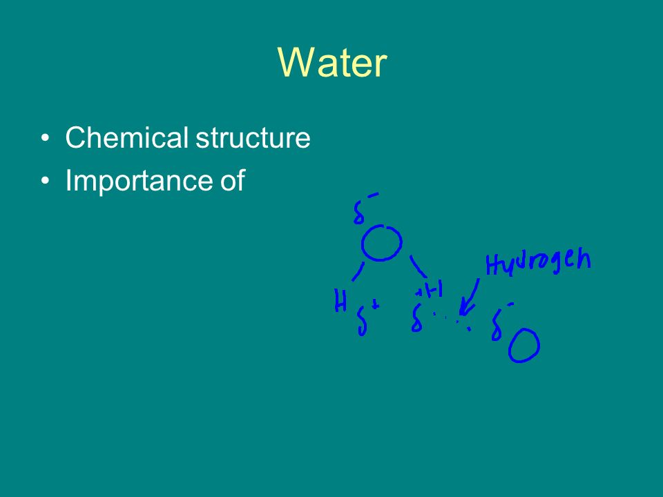 Water Chemical structure Importance of