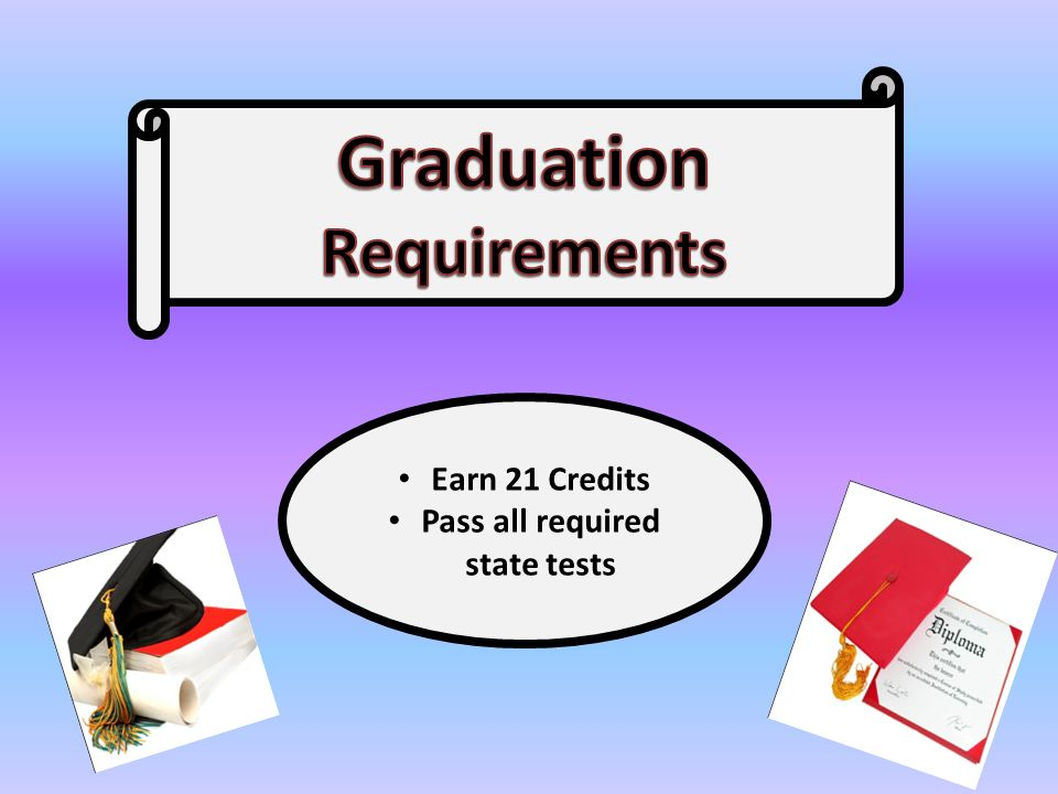 Earn 21 Credits Pass all required state tests