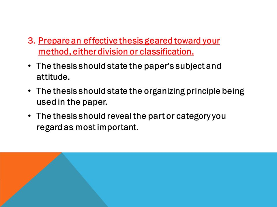 classification and division essay thesis statement A solid thesis statement will always be the heart of your essay before you begin writing, you'll want to follow these tips for developing a good thesis statement.