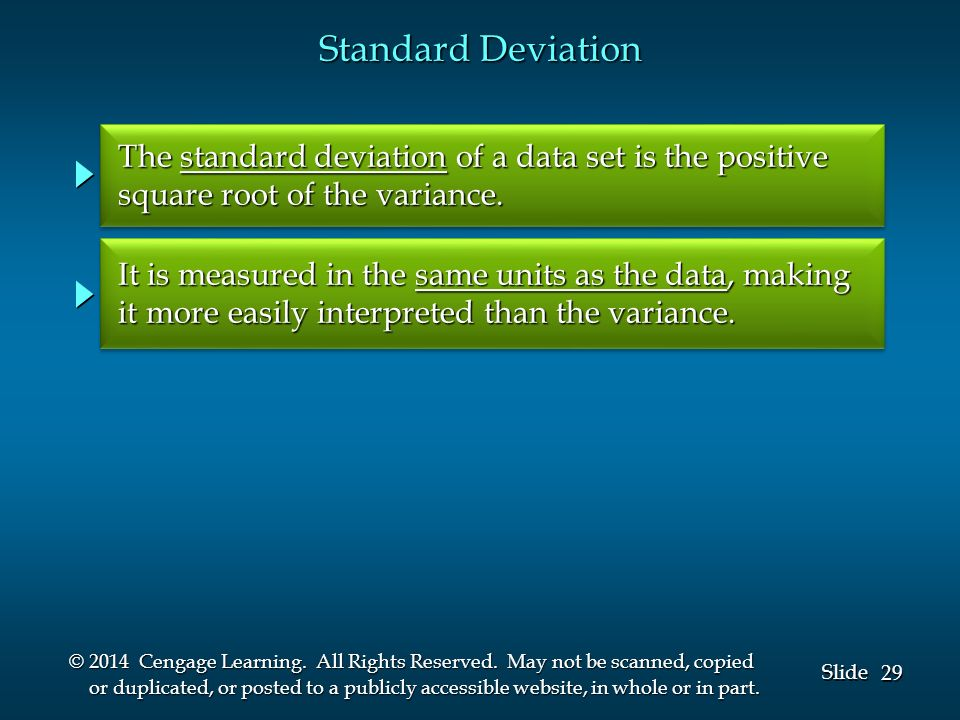 29 Slide © 2014 Cengage Learning. All Rights Reserved.